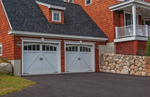 carriage house style garage door in California